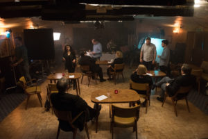 "A unit still from the film ""Just Saying"""